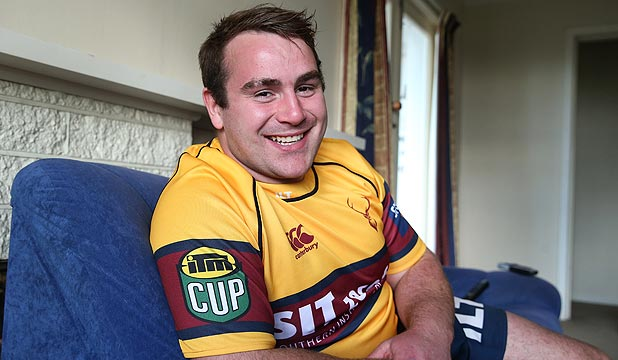 STOKED: Deaf rugby player Morgan Mitchell will make his debut for the Southland Stags against Mid Canterbury in Oamaru tomorrow.