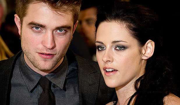 Kristen Stewart with Robert Pattinson.