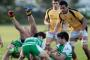 A big Manawatu cleanout as Turbos halfback Papa Wharewera clears in front of flanker Nick Crosswell