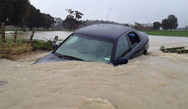 car submerged wairarapa