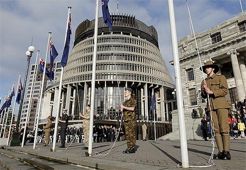 Dual ceremonies to mark the beginning of the First World War for New Zealand have been held at Parliament and Te Papa