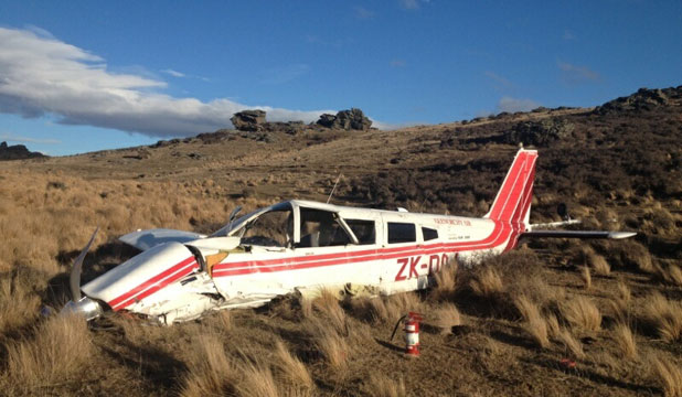 Crashed plane Otago