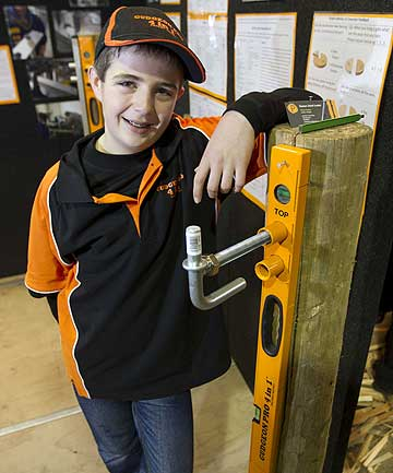 2014 Fieldays Young Inventor of the Year Patrick Roskam, 12.