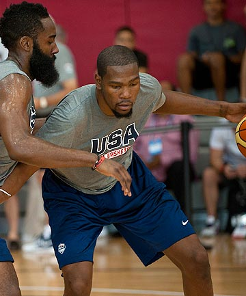 HUGE LOSS: The Tall Blacks have defending champs USA in their group for the upcoming World Cup, but will not come up against NBA MVP Kevin Durant after he was ruled out with injury.