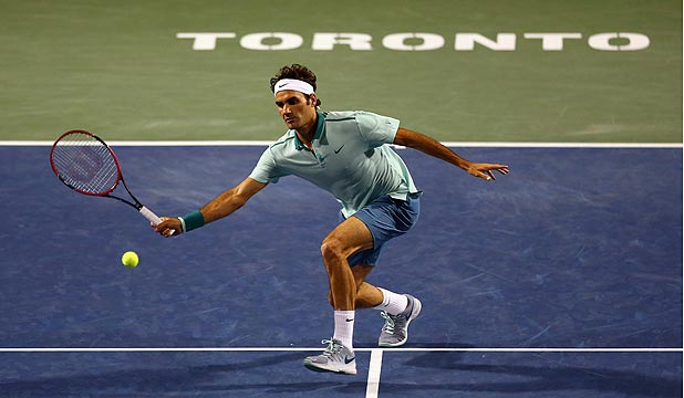 DEFT TOUCH: Roger Federer is through to the final of the Rogers Cup in Toronto where he will meet Frenchman Jo-Wilfried Tsonga.