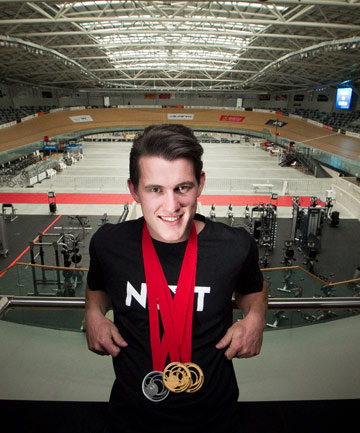 DOUBLE HAPPINESS: Sam Webster won two golds in Glasgow.