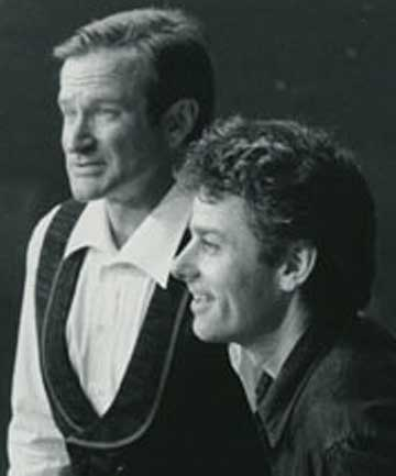 Robin Williams with Vincent Ward in 1998