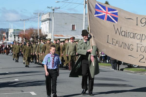 Leaving for the front reenactment, Masterton.