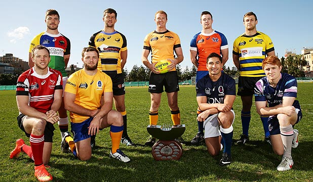 NEW CONCEPT: The captains from the NRC clubs pose
