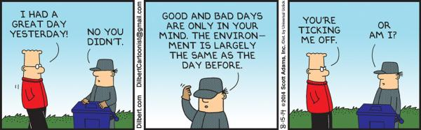 Friday, August 15: Good day bad day
