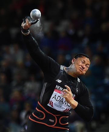 POWDER FINGER: The forces of nature are taking their toll on Valerie Adams' body as she pushes on to the next Olympics.