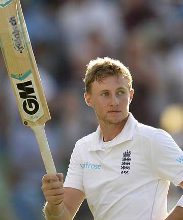 England's Joe Root leaves the field on 92 not out at stumps on the second day of the fifth cricket test match at The Oval.