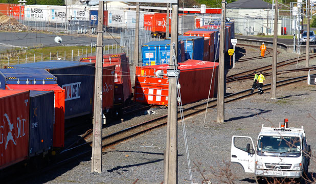 KiwiRail train derailed in Hamilton