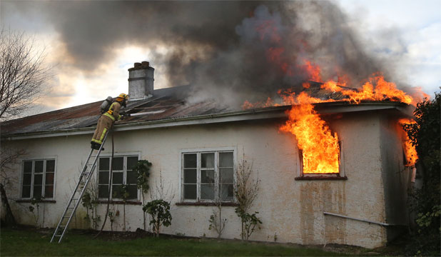 House fire, Waimate brigade training