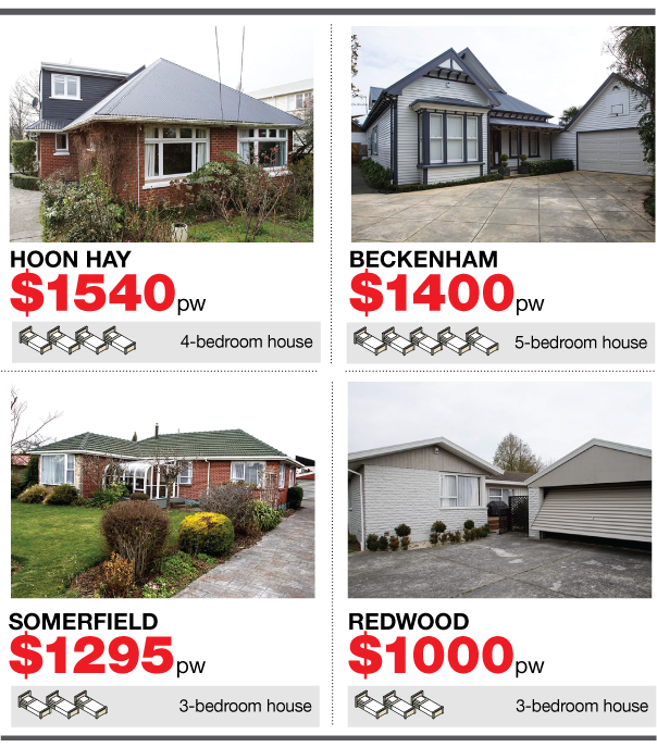 Christchurch rental prices