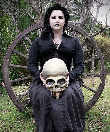 Michelle and gothic cake