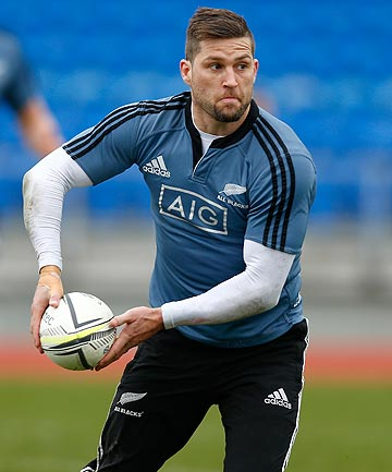 PRIMED: Cory Jane goes through his paces at All Blacks training in Auckland ahead of his 50th test.