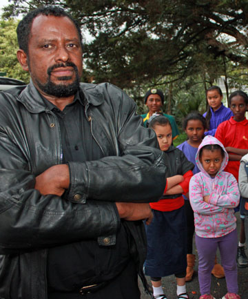 Mesganaw Bitul's had his van stolen and now he can't pick up the youngsters who rely on him to get to the Ethiokiwi Homework Centre.