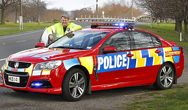 red police car
