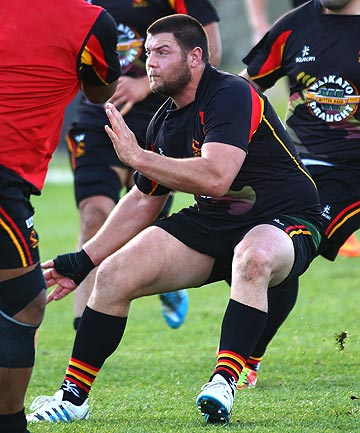 BACK INTO ACTION: Prop Josh Hohneck returns to the Waikato team for tonight's match against Taranaki after recovering from a broken thumb.