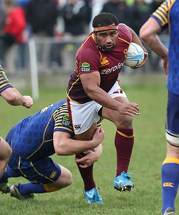 HE'S BACK: Talemaitoga Tuapati, pictured playing against Otago last season, has recovered from injury to start at hooker for the Stags against Otago at Rugby Park today.