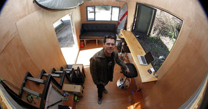 Stefan Cook's tiny home