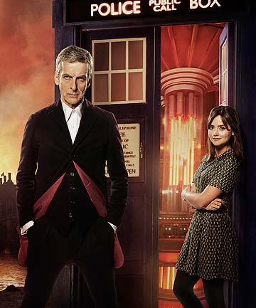 Peter Capaldi with Jenna Coleman