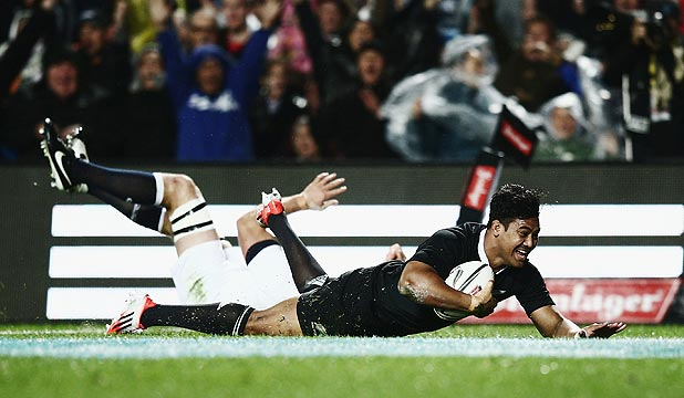 SCORING MACHINE: All Blacks wing Julian Savea will be hunting his 25th try in as many tests, against Argentina tonight.