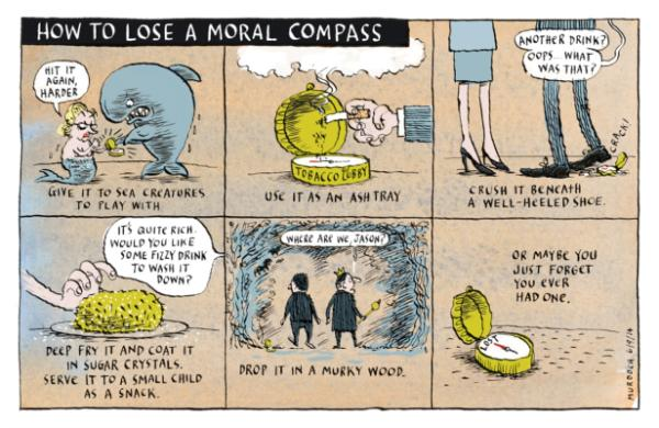How to Lose a Moral Compass
