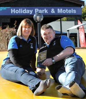 Te Anau Kiwi Holiday Park owners Brad and Anna Molloy