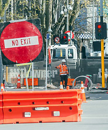 A computer tool prevents greater chaos in central Christchurch.