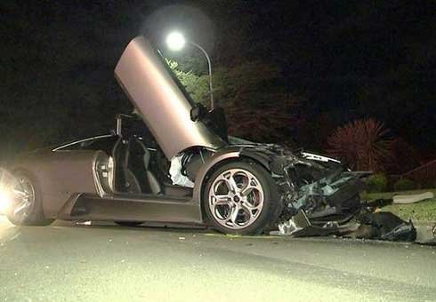 The Lamborghini Murcielago was a write-off.