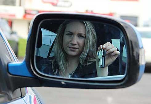 A woman was reduced to tears after failing her full licence test, despite driving for the past 14 years.