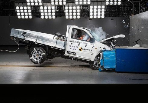 Great Wall's V200 ute did not fare well in a recent crash test.