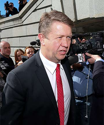 LEADERSHIP STOUSH: David Cunliffe arrives for the Labour caucus meeting at Parliament.