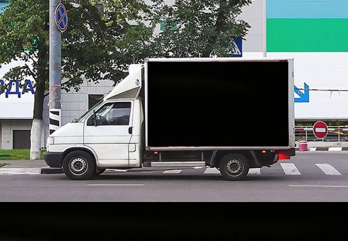Truck billboards featuring a woman's naked breasts have caused over 500 vehicle accidents in a single day.