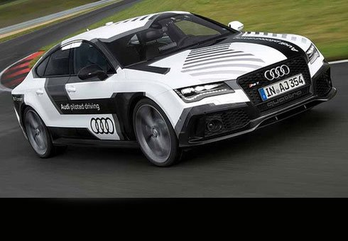 Self-driving Audi RS7.