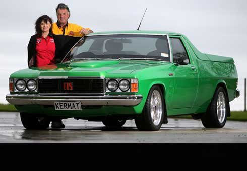 Taranaki's Steve and Joy Fabish with their 1980 Holden Kingswood