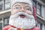 Santa Claus outside Whitcoulls, Queen Street, Auckland