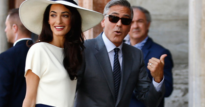 "George Clooney's new wife Amal is ""perfect for him"", according to Rande Gerber. The 53-year-old actor married British lawyer Amal in a romantic ceremony in Venice, Italy, last month.  And Rande, who was present for the nuptials, says he couldn't be happier for his close pal. ""I've been friends with George probably half my life. And it's just great that he found someone,"