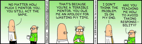 Thursday, March 12: Bad mentor