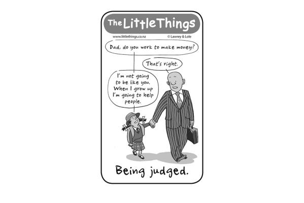 Wednesday, March 25: Being judged