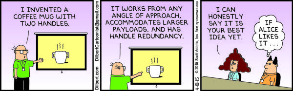 Saturday, April 18 Dilbert