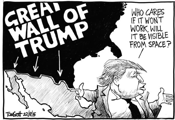 Saturday, August 22: Great Wall of Trump