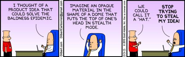 Dilbert, October 03, 2015 - Hat theory