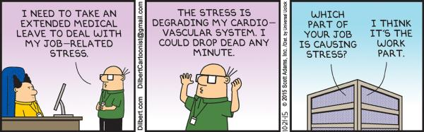 Wednesday 21 October: Work-related stress