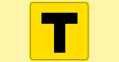 'T' plate for tourists