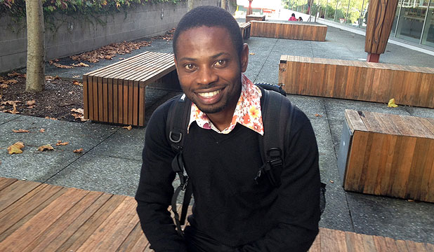 Sadiki Ruhamya, 23, originally from Congo, is studying at Henderson's Unitec and wants to help empower other refugees.
