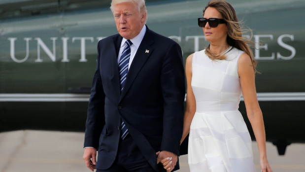Watch Melania Trump Slap Away Donald Trump's Hand