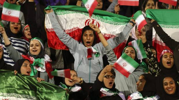 Iran allows women into football match for the first time in 35 years